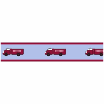 Sweet JoJo Designs Firetruck Wallpaper Border