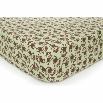 Carter's Easy Fit Crib Printed Fitted Sheet - Monkey
