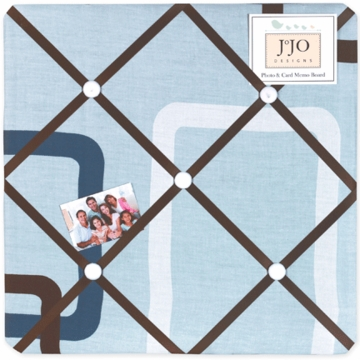 Sweet JoJo Designs Geo Blue Fabric Memo Board