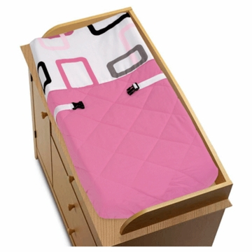 Sweet JoJo Designs Geo Pink Changing Pad Cover