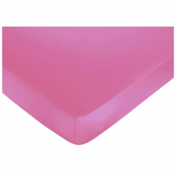 Sweet JoJo Designs Geo Pink Crib Sheet in Solid Pink