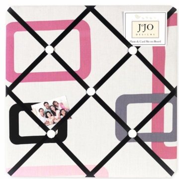 Sweet JoJo Designs Geo Pink Fabric Memo Board