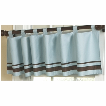 Sweet JoJo Designs Hotel Blue & Brown Window Valance