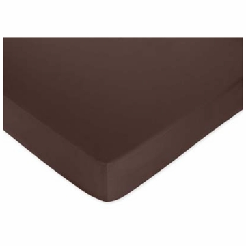 Sweet JoJo Designs Hotel Green & Brown Crib Sheet in Brown