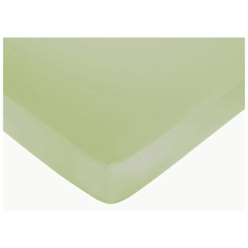 Sweet JoJo Designs Hotel Green & Brown Crib Sheet in Green