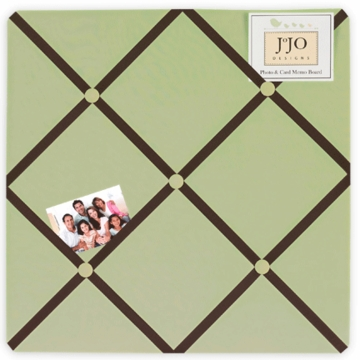 Sweet JoJo Designs Hotel Green & Brown Fabric Memo Board