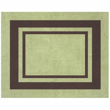 Sweet JoJo Designs Hotel Green & Brown Rug