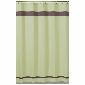 Sweet JoJo Designs Hotel Green & Brown Shower Curtain