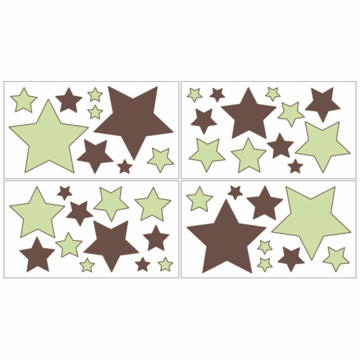 Sweet JoJo Designs Hotel Green & Brown Wall Decals