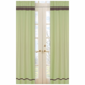 Sweet JoJo Designs Hotel Green & Brown Window Panels