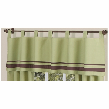 Sweet JoJo Designs Hotel Green & Brown Window Valance