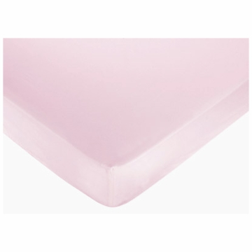 Sweet JoJo Designs Hotel Pink & Brown Crib Sheet in Solid Pink