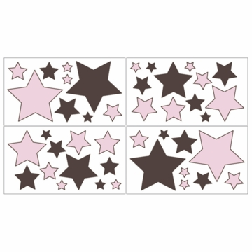 Sweet JoJo Designs Hotel Pink & Brown Wall Decals