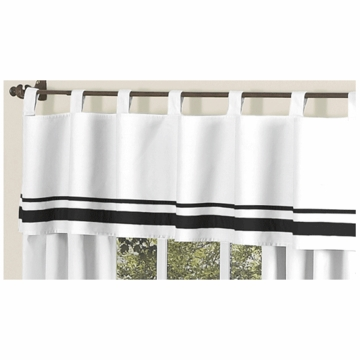 Sweet JoJo Designs Hotel White & Black Window Valance