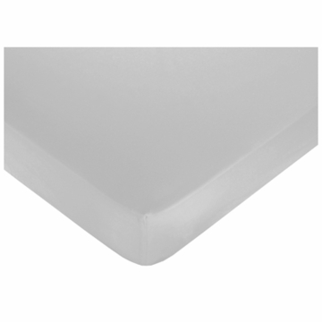 Sweet JoJo Designs Hotel White & Gray Crib Sheet in Gray