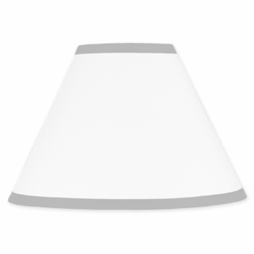 Sweet JoJo Designs Hotel White & Gray Lamp Shade