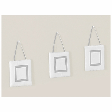 Sweet JoJo Designs Hotel White & Gray Wall Hangings