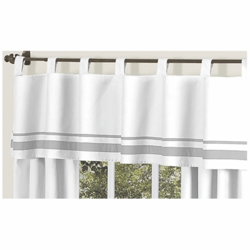 Sweet JoJo Designs Hotel White & Gray Window Valance