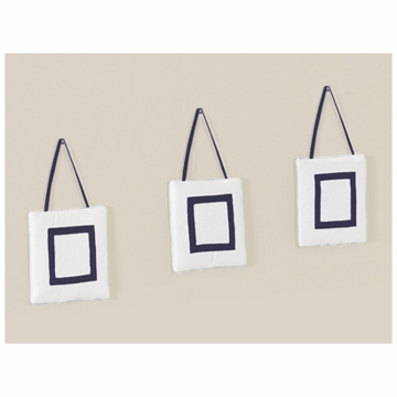 Sweet JoJo Designs Hotel White & Navy Wall Hangings