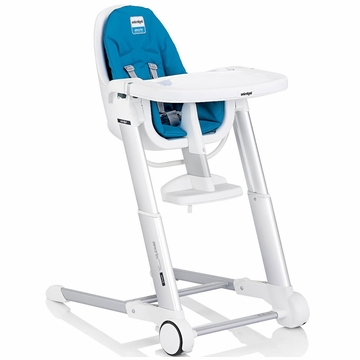 Inglesina Zuma White High Chair 2013 Light Blue