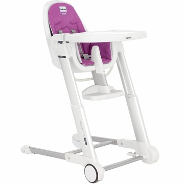 Inglesina 2013 Zuma White High Chair - Pink