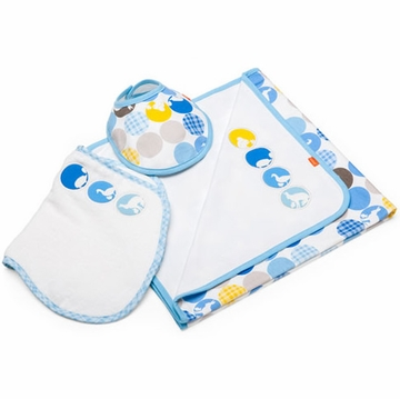 Stokke Jersey Blanket Set in Silhouette Blue