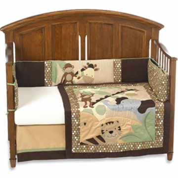 Lambs & Ivy Jungle Land Organic 4 Piece Crib Bedding Set