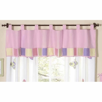 Sweet JoJo Designs Pink & Purple Butterfly Window Valance