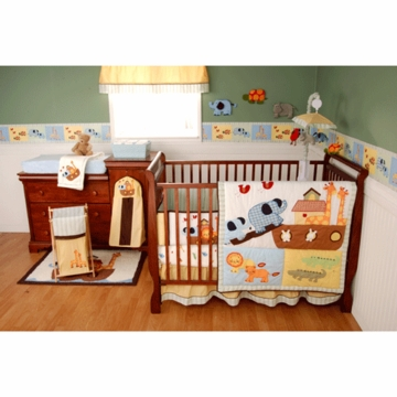KidsLine Lil' Kids It Takes Two 4 Piece Crib Set