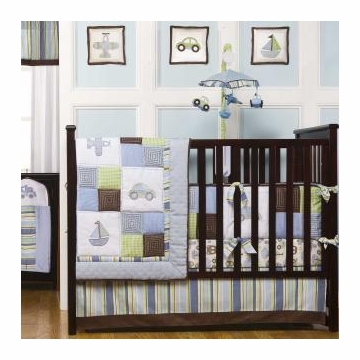 Kidsline Mosaic Transport 9-Piece Crib Bedding
