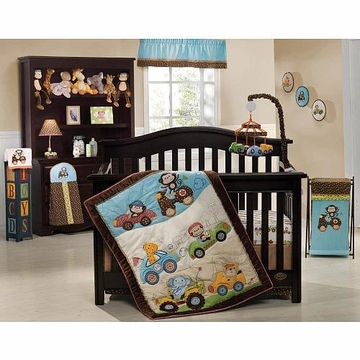 Kids Line 7-Piece Crib Bedding Set - Road Rally