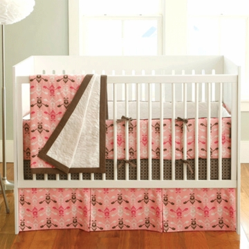 JJ Cole Pink Vintage 4-Piece Crib Bedding Set