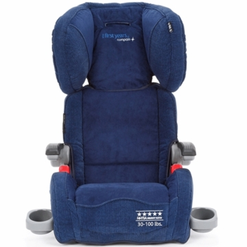 The First Years Compass B540 Ultra Folding Adjustable Booster in Rail Stripe Navy