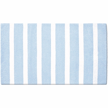 The Rug Market Rug - Cabana Stripe Rectangular in Blue