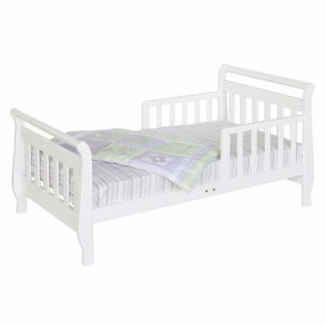 DaVinci Sleigh Toddler Bed White
