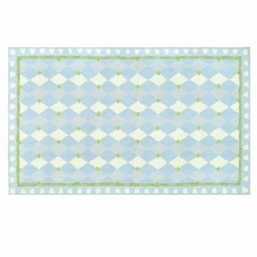 The Rug Market Rug - Harlequin in Light Blue