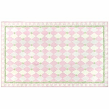The Rug Market Rug - Harlequin in Pink