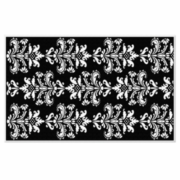The Rug Market Rug - Mini Damask in Black & White