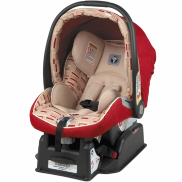 Peg Perego 2010 Primo Viaggio SIP 30/30 Infant Car Seat in Red Step