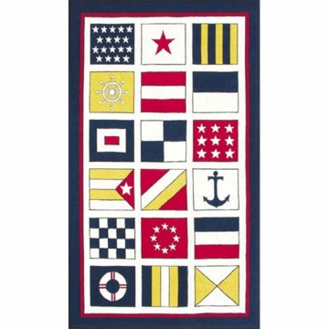 The Rug Market Rug - Nautical Flags