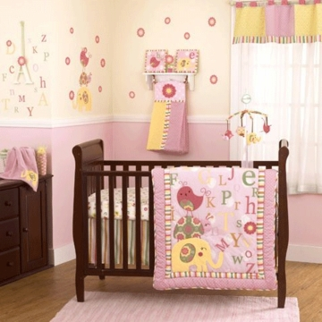 CoCo & Company Alphabet Sweeties 4 Piece Crib Set
