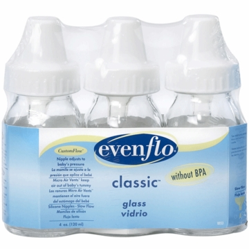 Evenflo Classic 4 oz. Glass Bottle Nurser 3 Pack
