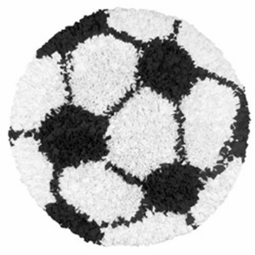 The Rug Market Shaggy Rug - Soccer Ball