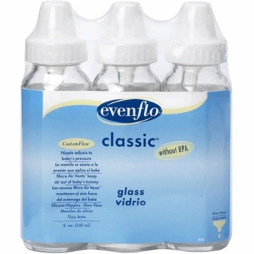 Evenflo Classic 8 oz. Glass Bottle Nurser 3 Pack