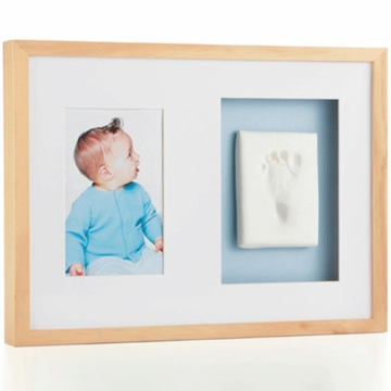 Pearhead Babyprints Wall Frame in Natural