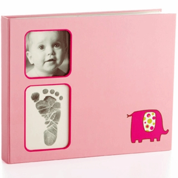 Pearhead Babybook Elephant in Pink