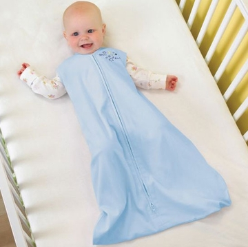 Halo 100% Cotton SleepSack Wearable Blanket - Baby Blue - Large