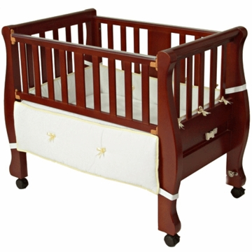 Arm's Reach The Co-Sleeper Sleigh Bed Bassinet Cherry