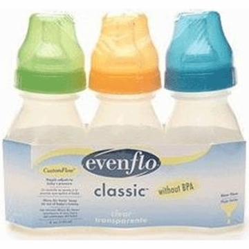 Evenflo Classic 4 oz Clear Bottles- 3 Pack