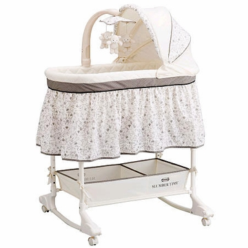 Simmons Adjustable Height Bassinet - Black Toile